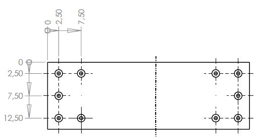 10 hole chip layout